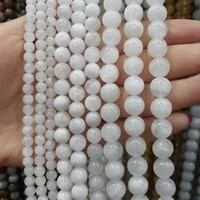 wholesale natural stone beads frost white jades beads diy hand made fine jewelry accessory gem stone beads