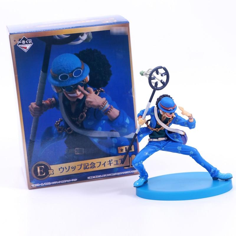 18cm One Piece anime sammlung Lysop figur action modell blau kleidung Ver. 20th anniversary Souvenir figur