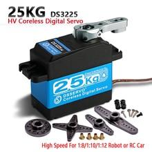 1 X Hv Waterdichte Hoge Snelheid Rvs Gear Coreless Digitale Servo 25Kg/.07S Voor 1/8 1/10 Schaal Rc Cars + Gratis Verzending