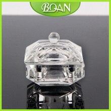 BQAN 10Pc Acrylic Liquid Glass Acrylic Powder Dappen Dish Crystal Glass Cup for Nail Art Clear Nail Art Equipment Mini Cups