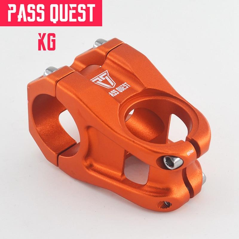 Passar haste de bicicleta mtb 31.8mm, guidão dh am fr enduro 0 graus 28.6mm curto 40mm azul ultraleve 143g