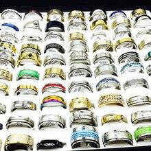 MIXMAX großhandel viele schütt 100 stücke frauen ringe set edelstahl paar hochzeit bands herren schmuck party geschenke dropshipping