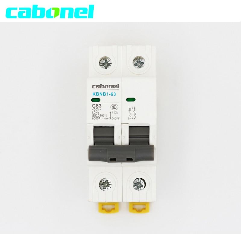 Cabonel 2 P AC400V ~ 50Hz Mini interruptor de circuito MCB