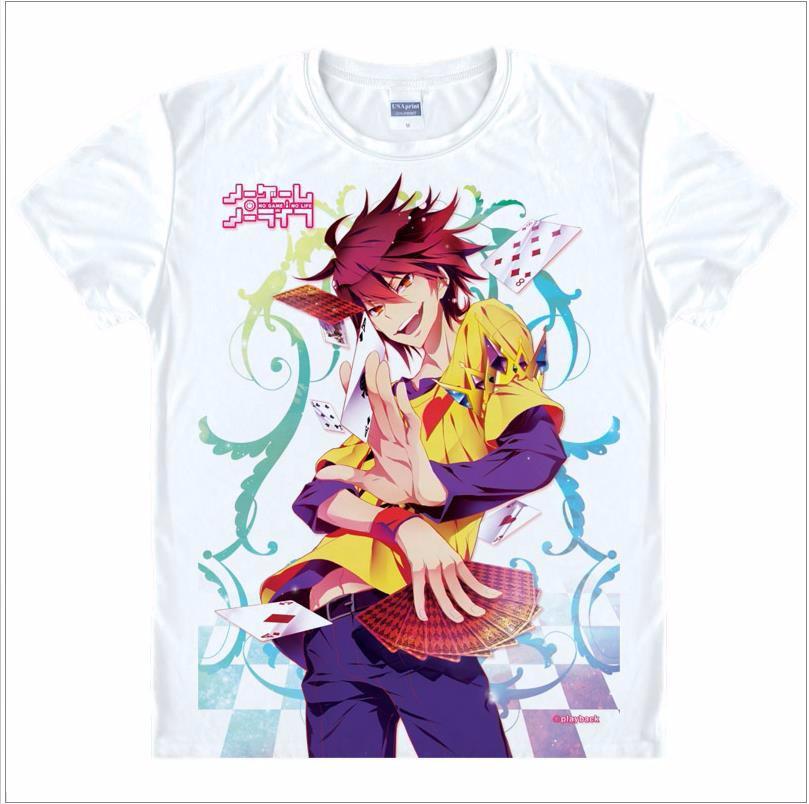 Anime No Game No Life Sora//Shiro Unisex T-shirt Short Sleeve Tee Cosplay#AB157