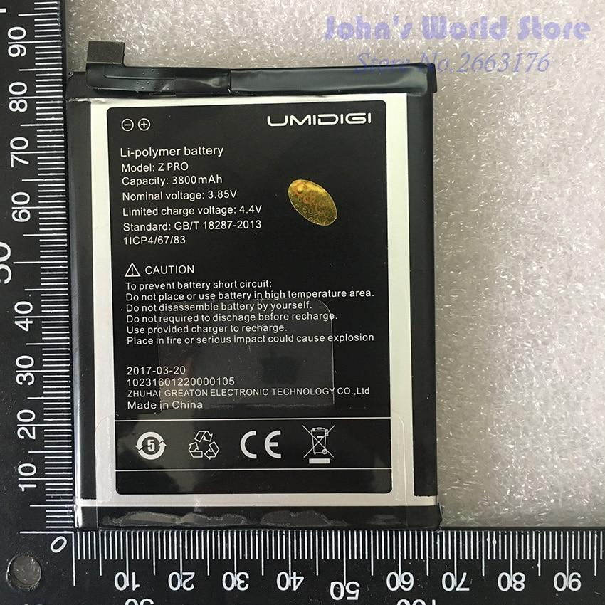 Umi Z Pro Battery UMI Z Pro High Quality Original Large Capacity 3800mAh Back Up For UMI Z Pro Smart Phone enlarge