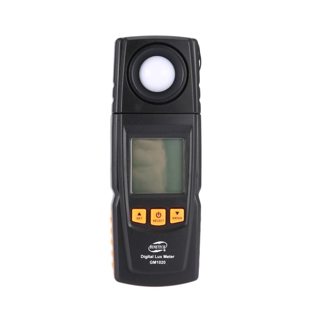 Benetech gm1020 lux medidor de luz digital 200000 luminância luminômetro iluminação tester temômetro temperatura