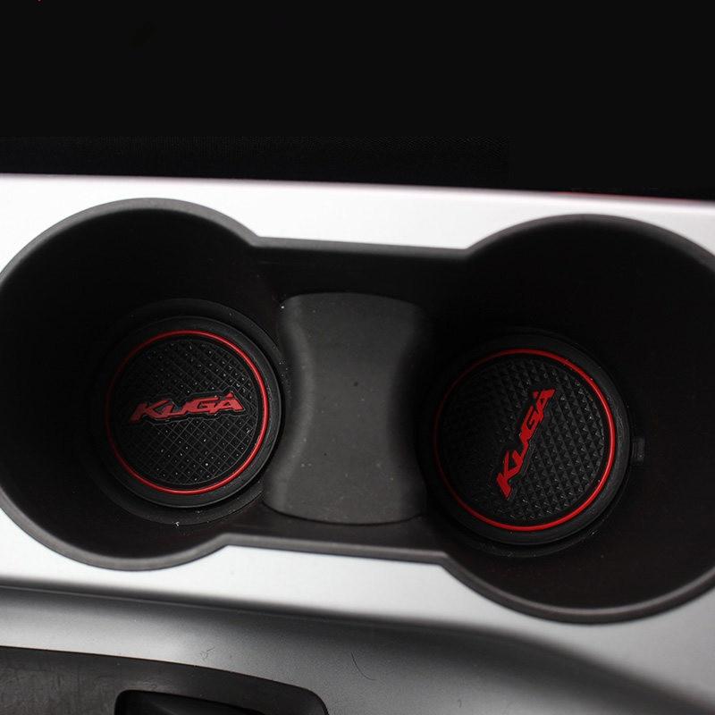 For Ford 2013-2015 kuga Door Slot Pad 3D Rubber Mat Cup Cushion Dust mat Gate Slot Mat Anti Slip Mats Car Accessories