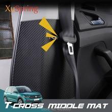 Car Stickers B Pillar Anti-kick Mat Pad Protective Cushion Garnish Styling for Volkswagen VW T-cross Tcross 2019