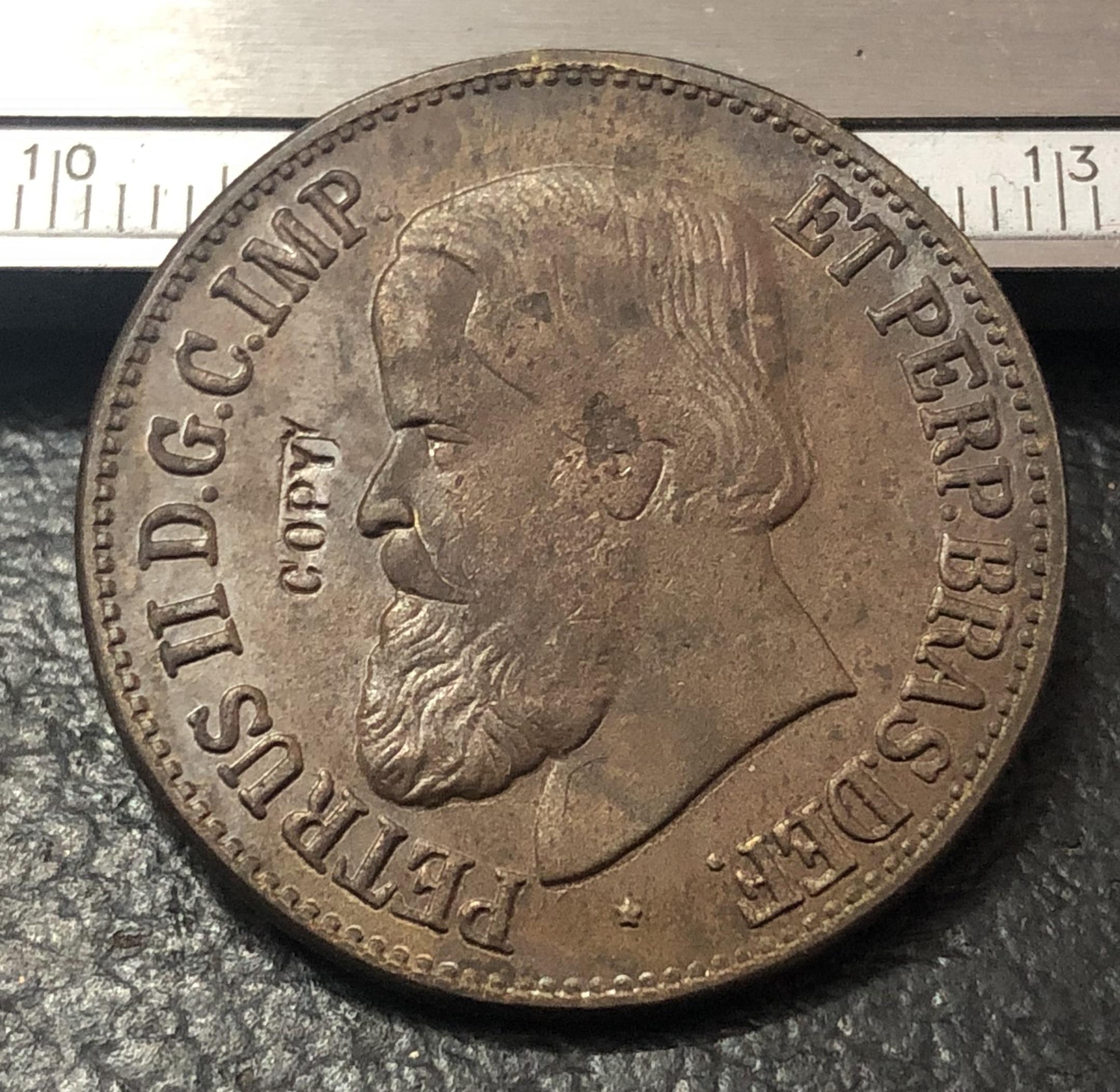 1889 бразильская медная монета copper silver coin copper coincoin magnifier   АлиЭкспресс