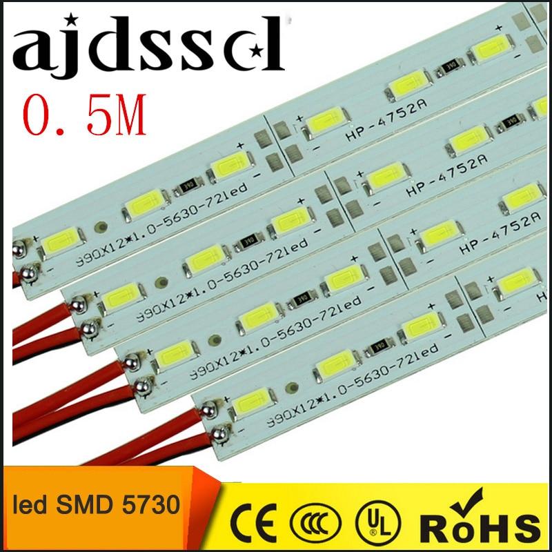10pcs*50cm Factory Wholesale DC 12V SMD 5730 5630 LED Hard Rigid Strip Bar Light
