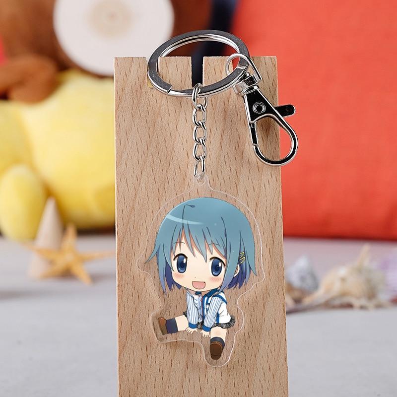 Japanese Game Anime Puella Magi Madoka Magica Cartoon Figure Car Key Chains Holder Best Friend Graduation Christmas Day Gift