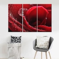 3 pieces drop shipping print quadros painting rose flower wall art canvas painting for living room home decoration frameless