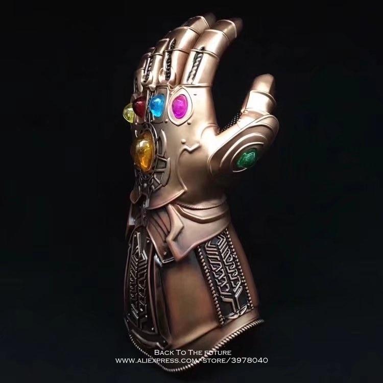 Los vengadores de Marvel Disney 3 Thanos Infinite guantes 34,5 cm figura de acción postura colección de decoración de anime figurita juguete modelo regalo