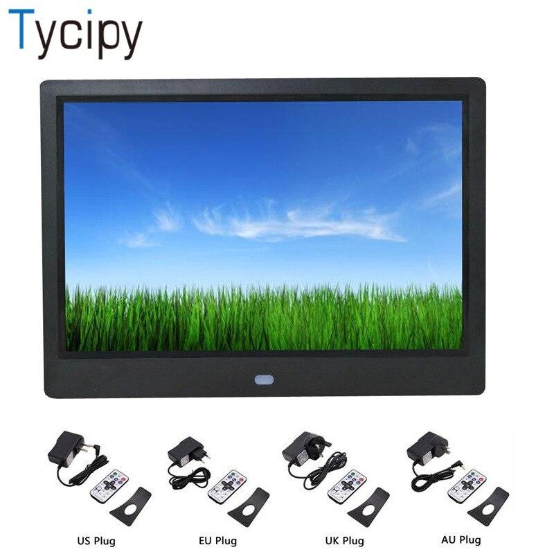 "Tycidy 10 ""marco de fotos Digital pantalla iPS formato completo HD LED Cámara Marco de fotos electrónico para música Mp3 Video Mp4 calendario regalo"