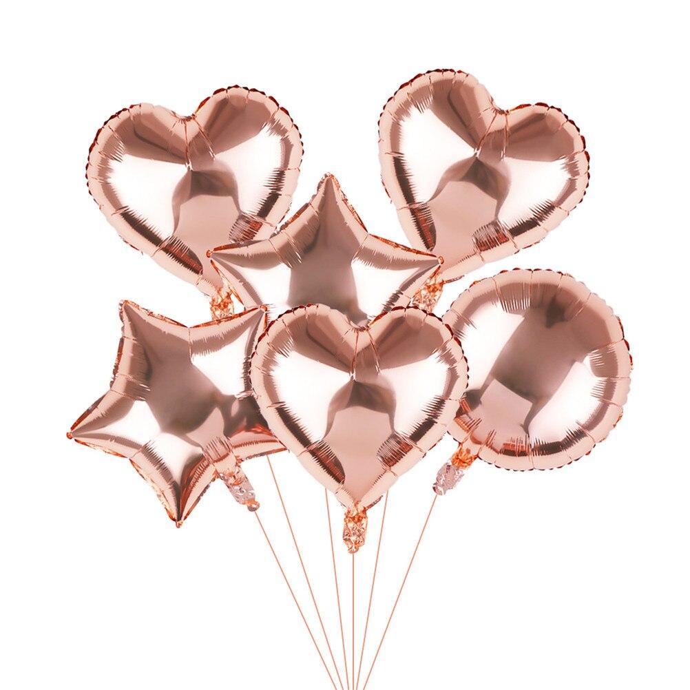 18 pulgadas 1 unids/bolsa de oro/oro rosado/plata 4D globos redondos de papel de aluminio boda matrimonio niños juguetes fiesta decoración suministros