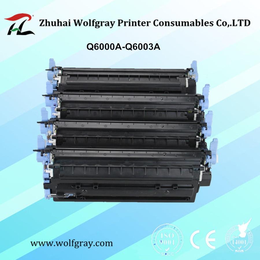 خرطوشة حبر متوافقة Q6000A Q6001A Q6002A Q6003A لـ HP 124A لون ليزر جيت 1600 2600n 2605 2605dn 2605dtn CM1015 CM1017