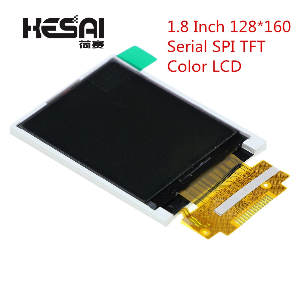 1,8 дюйма 128*160 серийный SPI TFT цветной ЖК-модуль 128x160 дисплей ST7735 с SPI интерфейсом 5 IO портов для arduino Diy Kit