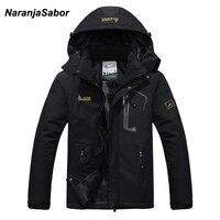 NaranjaSabor 2020 Autumn Winter Mens Jackets Fleece Thick Men's Coat Windbreaker Breathable Waterproof Male Mens Clothing 6XL