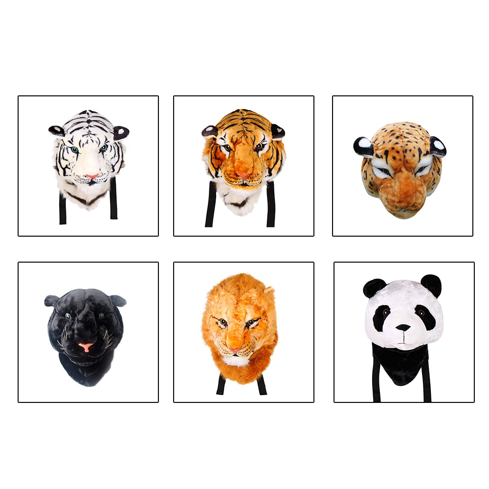 Mochila tipo tiger head, mochila da moda, personalidade, branco, amarelo, bolsa de ombro
