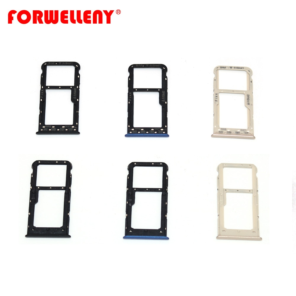 For huawei P smart / Enjoy 7S FIG-LX1 Micro Sim Card Holder Slot Tray Adapters black blue gold FIG-LA1 FIG-LX2 FIG-LX3 недорого