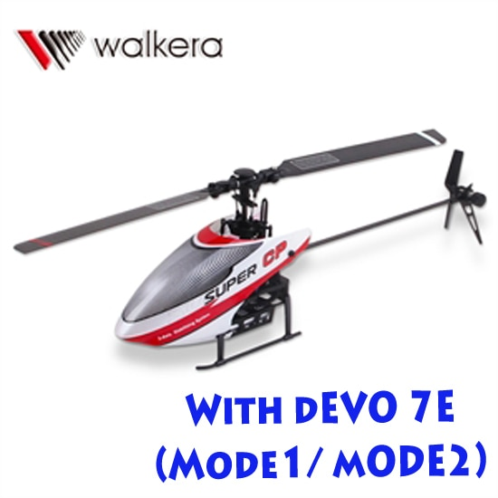 WALKERA Super CP Gyro System Flybarless 6CH Helicopter with DEVO 7E RTF