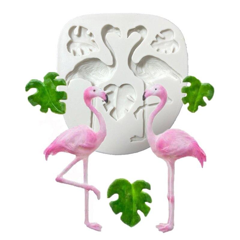 Leaf Fondant Cake Decorating Gereedschap Diy Schildpad Flamingo Siliconen Mallen Bladeren Cupcake Chocolade Gumpaste Snoep Klei Mallen
