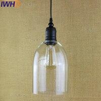 IWHD Style Loft Vintage Industrial Lighting Fixtures LED Pendant Lamp Glass Retro Lights Iron Kitchen Suspension Luminaire