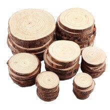 Tranches rondes en bois pin naturel inachevé   1 paquet, disques de bûches avec écorce darbre, pour bricolage artisanat, décor de peinture fête de mariage