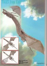 "Hayao Miyazaki "" Battle of The Sea"" Dragon Flying Version of The 3d Paper Model DIY"