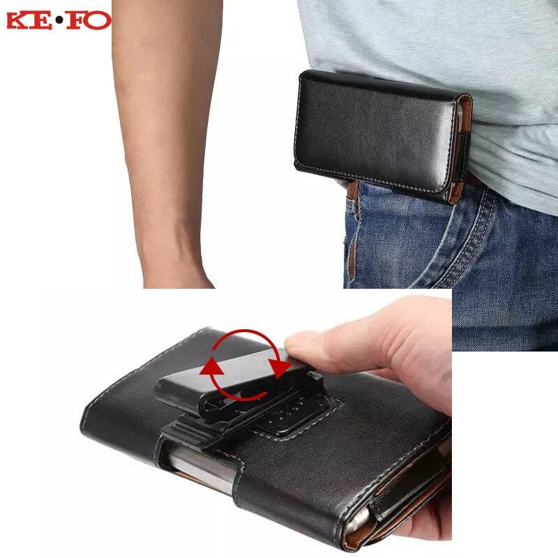 360 Rotation ceinture pince pochette étui pour Sony Xperia Z2 Z3 Z4 Z5 Mini XZ XZ1 XZ2 Compact X Performance extérieur universel sac de taille