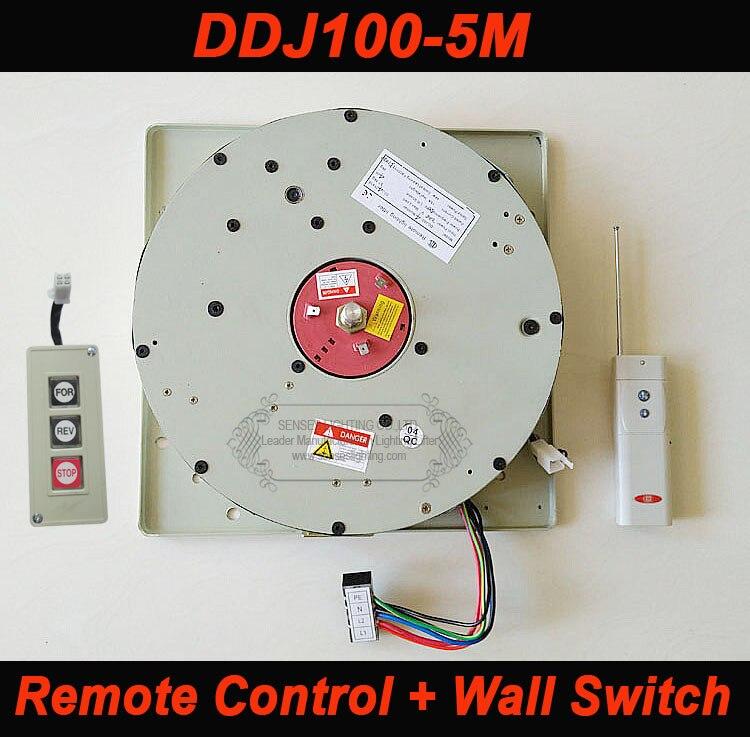رافعة حائط كهربائية مع جهاز تحكم عن بعد ، 100 كجم ، 5 متر ، نظام رفع خفيف ، 110 فولت-120 فولت ، 220-240 فولت