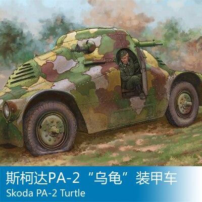 "Modelo de montaje Skoda PA-2 ""tortuga"" Vehículo blindado Juguetes"