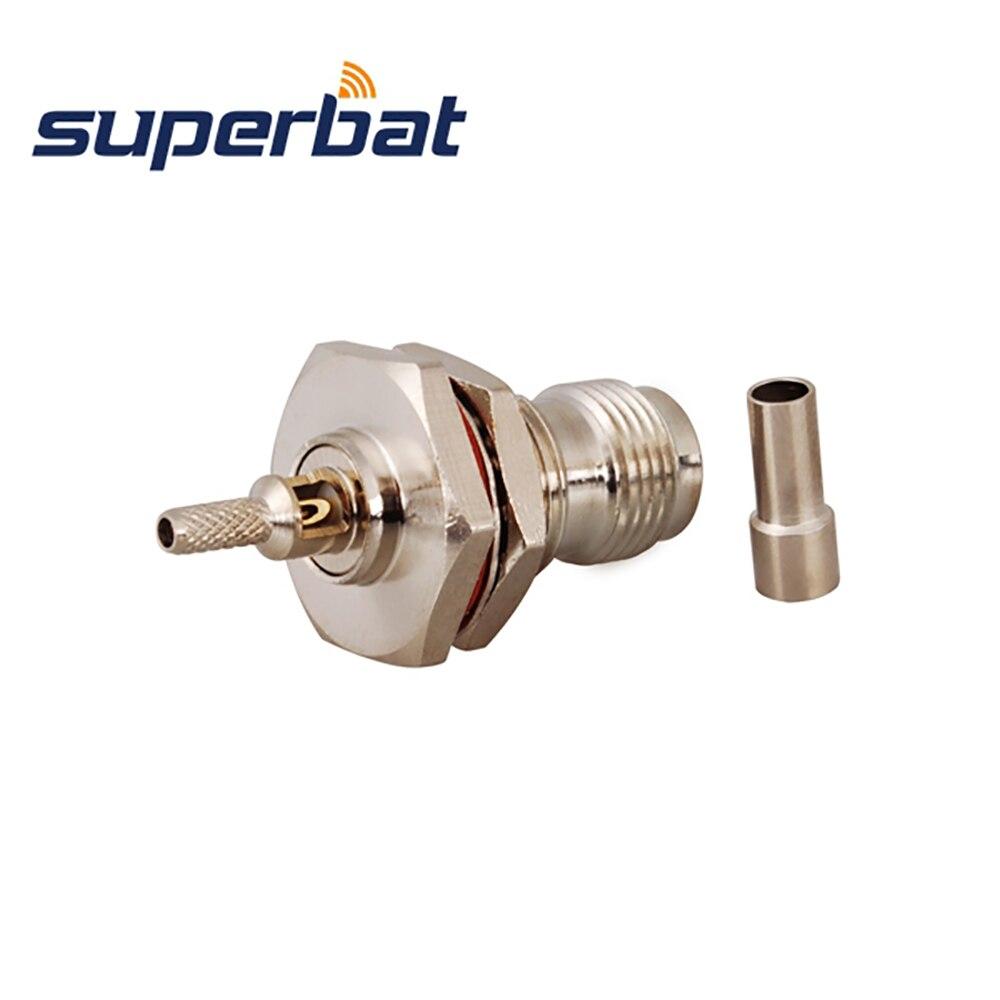 Superbat 10 stücke TNC Crimp Jack Weibliche Schott O-ring RF Stecker für Koaxialkabel RG174 RG178,RG316,LMR100