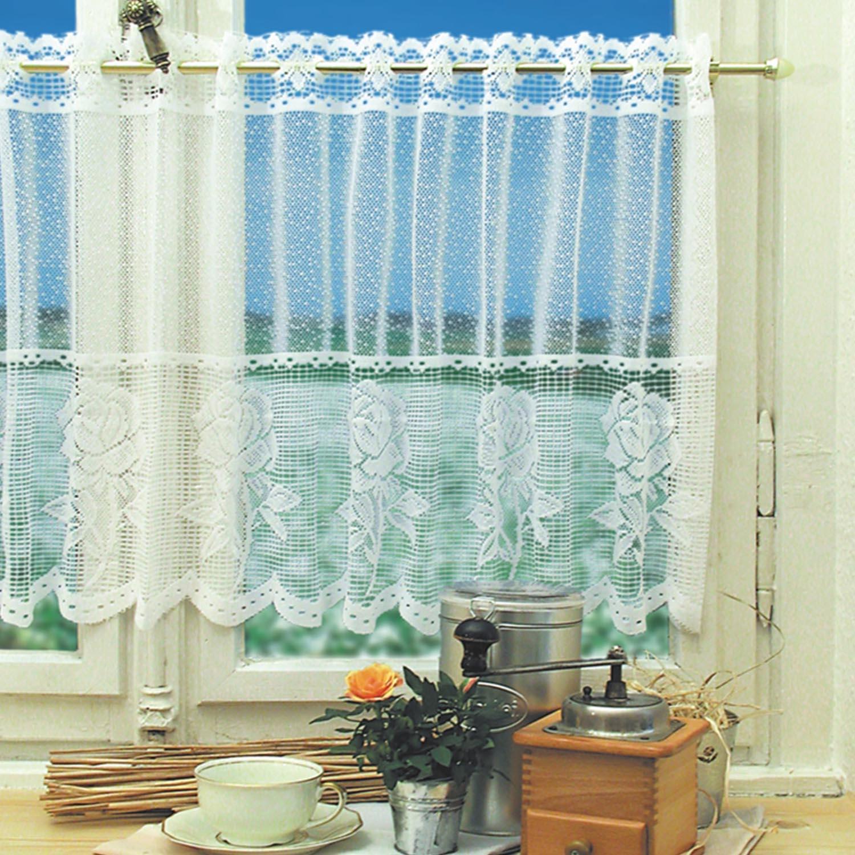 Cortina de tul transparente de gasa para ventana moderna de 160x30cm + 160x50cm para dormitorio de casa, sala de estar y cocina con patrón aleatorio