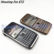 Nokia e72 하우징 전면 판 프레임 커버 케이스 + 뒷면 커버/배터리 도어 커버 + 영어 키패드 + 로고