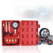 Тестер сжатия бензинового двигателя Автомобильный бензиновый газовый двигатель цилиндр Автомобильный манометр тестер автомобильный тестовый Комплект 0 300psi
