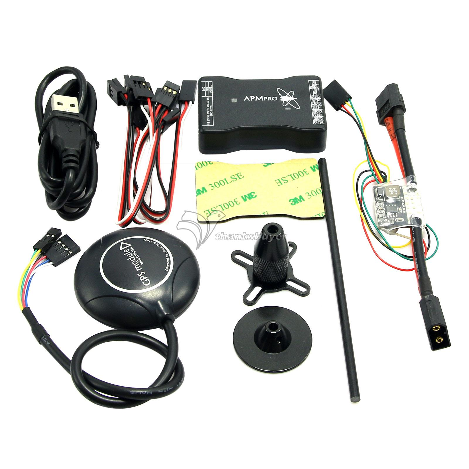 New Mini APM PRO Flight Control with Ulbox Neo-M8N GPS & Power Module & Data Cable for FPV Multicopter Aircraft