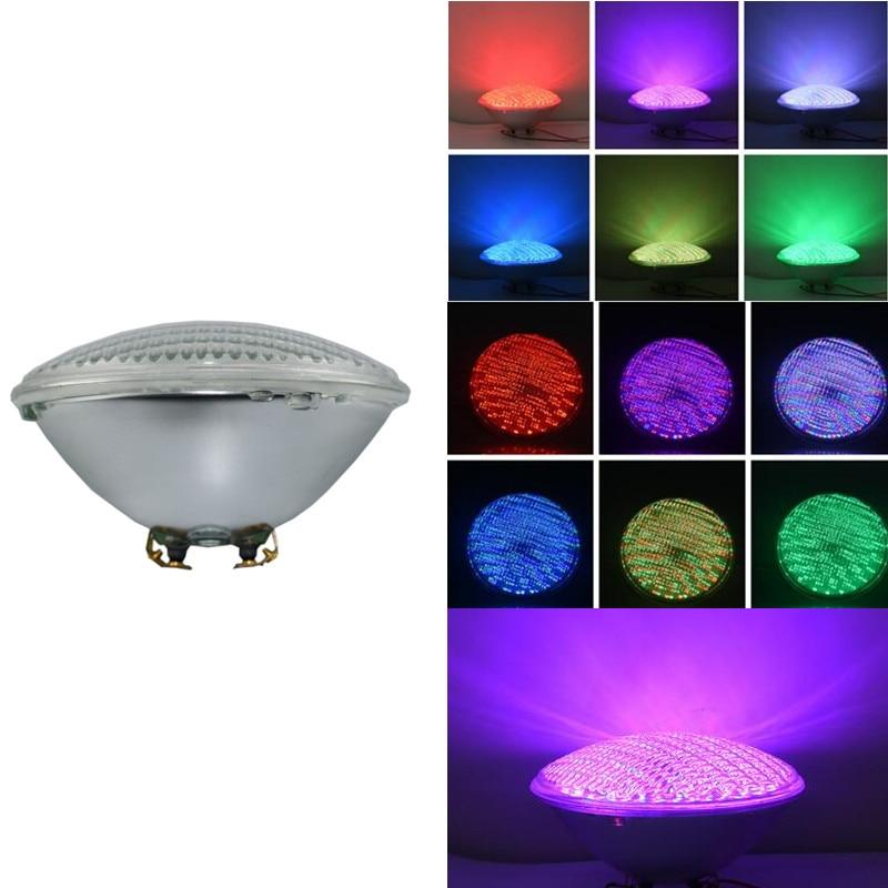 RGB PAR 56 LED Swimming Pool Light Bulb 25W PAR56 White 12V Spa Lamp IP68 Piscina Pool (RGB with Remote) Muliti Color Pond Light