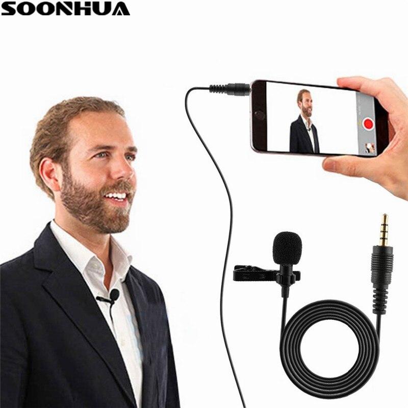 SOONHUA профессиональный микрофон для телефона портативный мини стерео HiFi Качество звука конденсатор микрофоны клип отворот микрофон