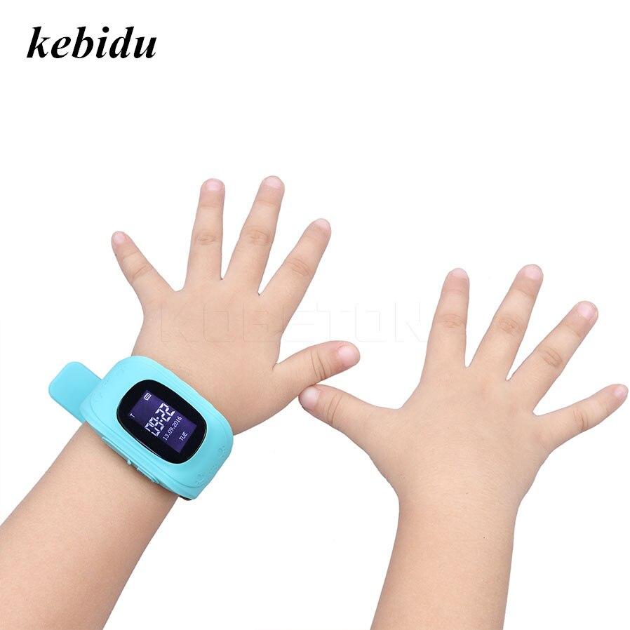 Kebidu Q50 inteligente para chico reloj inteligente SOS llamada localización localizador para niños Anti pérdida Monitor bebé reloj de pulsera