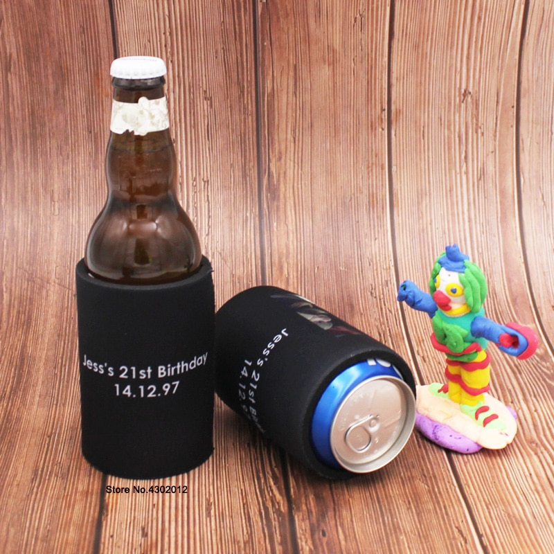 300pcs Custom Australia Stubby Holders Printing Logo Wedding Gifts Can Cooler Neoprene Ice Pack Thermos Insulated Beer Can Cover