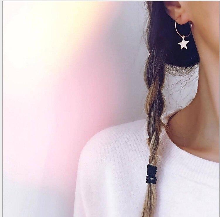 Новые серьги, популярные модные простые серьги с пентаграммой, Женские аксессуары, опт и международная торговля