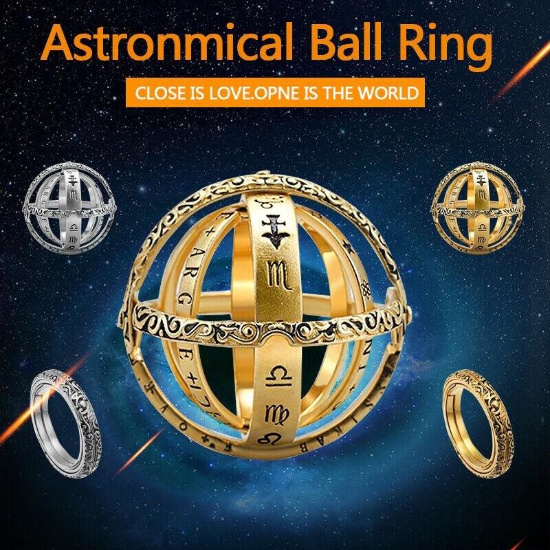 Кольцо для мужчин и женщин, креативное кольцо в виде астрономической сферы, шара, созвездий космосных пар, влюбленных, созвездий, размер 6-11