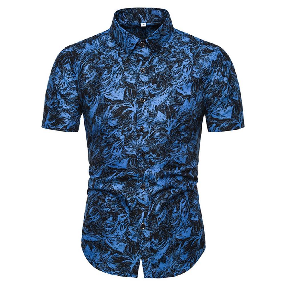 Camisa para hombre Hawaiana de verano informal para hombre, Camisa Masculina estampada a la moda de playa, camiseta de manga corta, gran oferta de talla grande