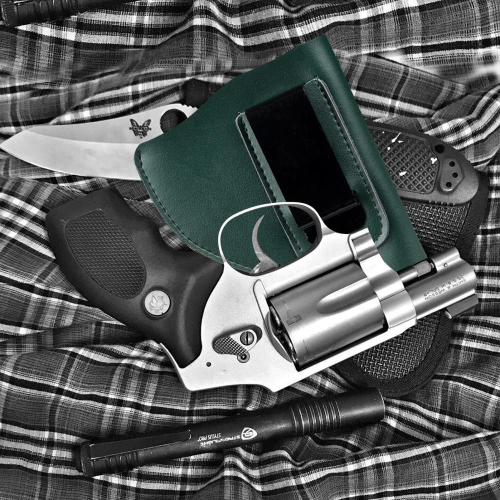 Split Leather Gun Holster for J Frame Revolver Taurus Ruger S&W Tactical Universal Concealed Belt IWB Holster S&W Model 60/640