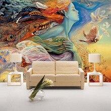 Фотообои на заказ, 3D персональный абстрактный Рисунок, граффити, настенная живопись, кинотеатр, бар, КТВ, фон для спальни, ТВ, фото обои