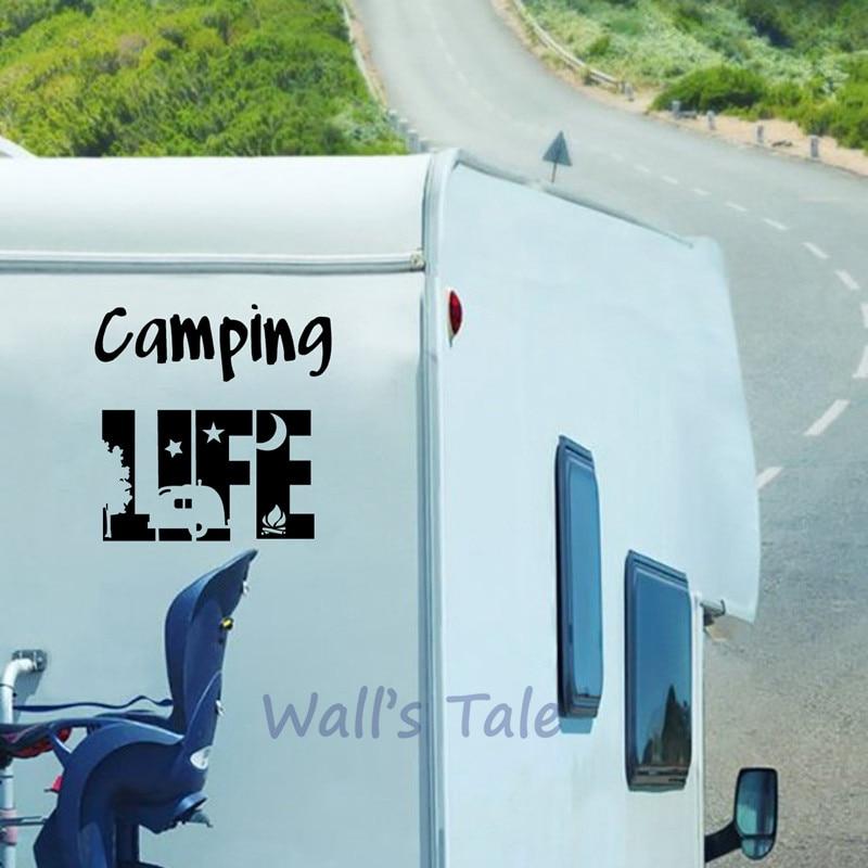 Campeggio Tenda di Arte Del Vinile Autoadesivo Camper Finestra del Portello di Vetro Decorazione Camper Decalcomanie RV Trailer di Viaggio di Arte Murale Della Decorazione