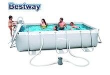 56441 Bestway 404*201*100cm grande piscine cadre rectangulaire piscine pour maison & bébé piscine hors sol pour enfants & Parents