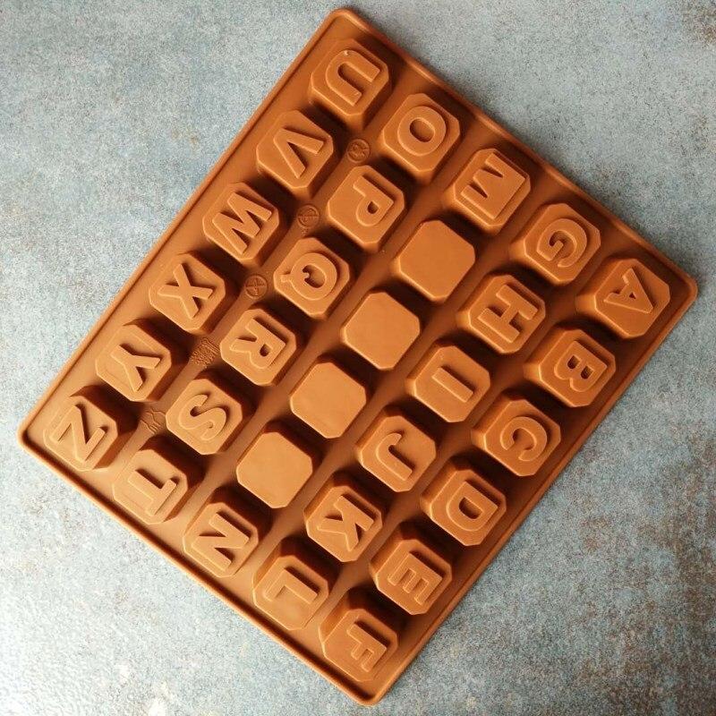 26 letras inglesas silicone fondant chocolate molde diy artesanal sabão gelo molde ferramentas de cozimento a059