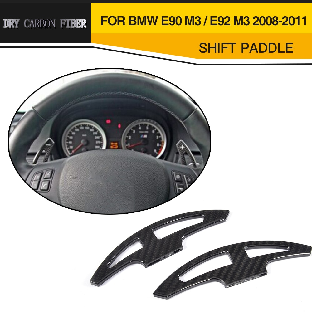 Для E92 M3 сухая замена крышки руля, карбоновое волокно, рычаг переключения передач для BMW 3 серии E46 E90 E92 M3 2008 - 2011 Sedan купе